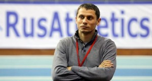 Head coach of Russian athletics team Borzakovsky attends Russian Indoor Championships in Moscow