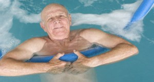Senior Man in Swimming Pool