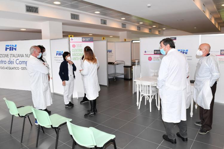 centro-federale-ostia-inaugurato-hub-vaccinale